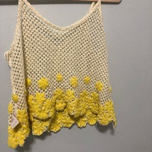 Free People flower lace tank